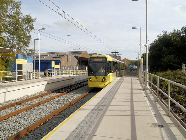 Tram Arriving at Milnrow