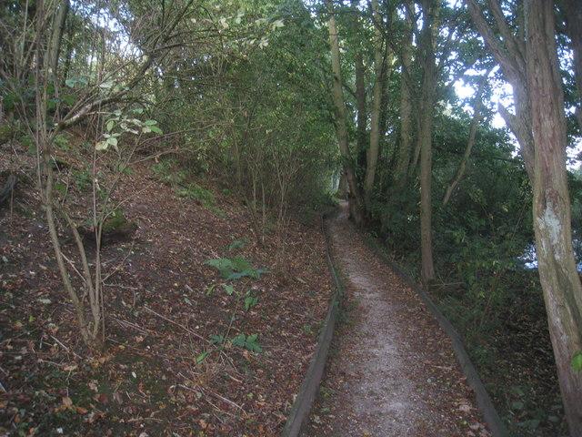 Below the embankment