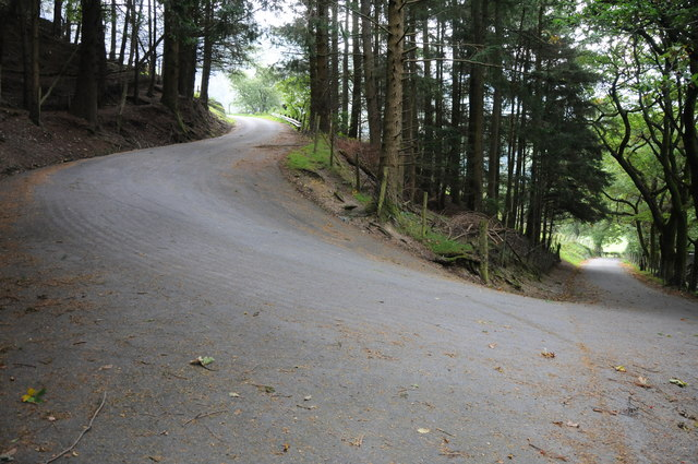 Hairpin bend near Blaen pennant