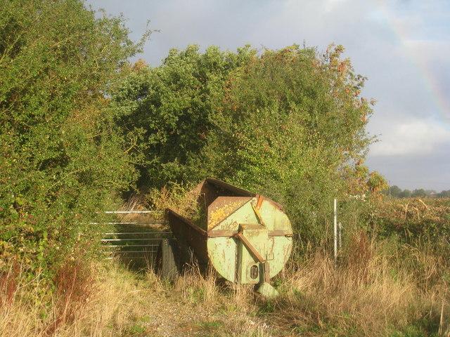 Derelict muck-spreader on Rudding Lane