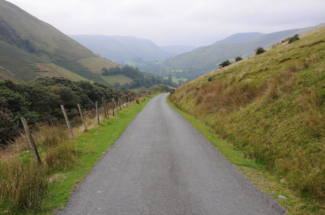 Mountain road below Bwlch y Groes