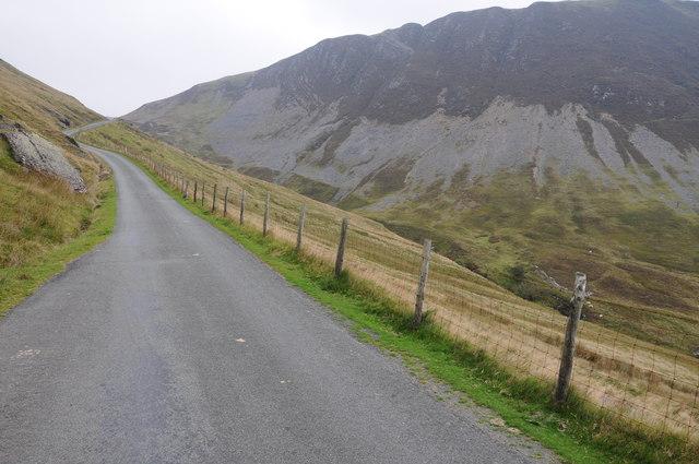 Road below Craig y Pant