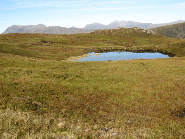 Small lochan near the summit of Bidein Clann Raonaild