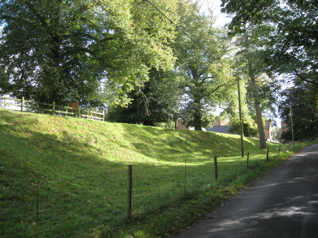 Bank above the lane north of the manor house, Wormleighton