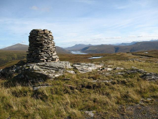 Summit cairn on Bidein Clann Raonaild