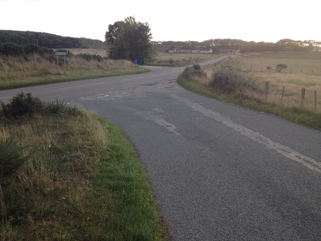 Road junction near Toulvaddie