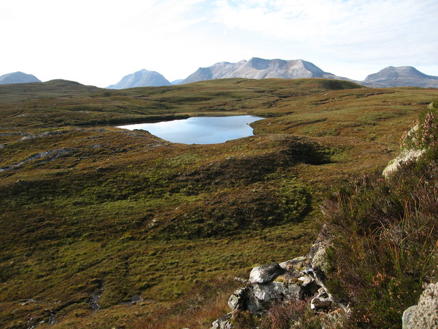 Lochan in open moorland