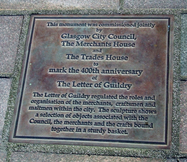 Letter of Guildry plaque on Hutcheson Street