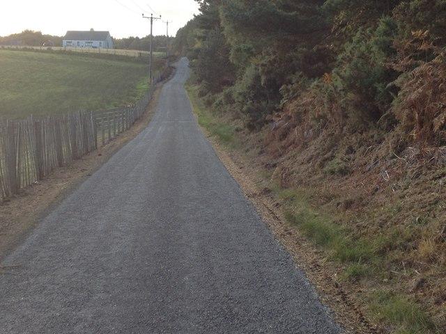 Minor road near Pitmaduthy