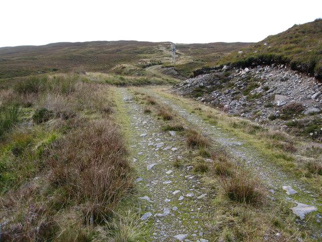 Track leading to the summit of Bidein Clann Raonaild