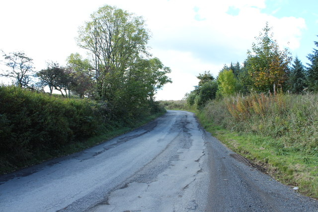 Road to Kirkmichael near Whitehill