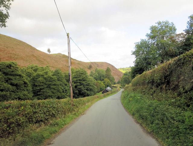 Un-named lane south of Gallt-y-wrach