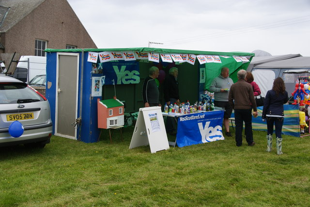 The Yes Scotland Campaign stall