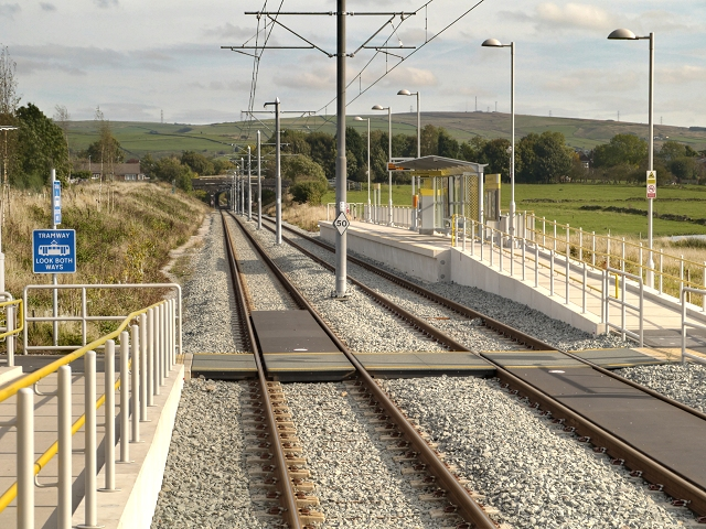 Foot Crossing at Kingsway Business Park Metrolink Stop