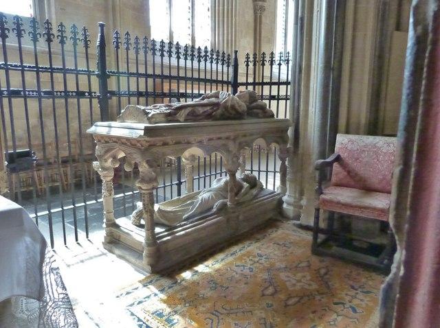 The unusual tomb of Bishop Thomas Beckynton