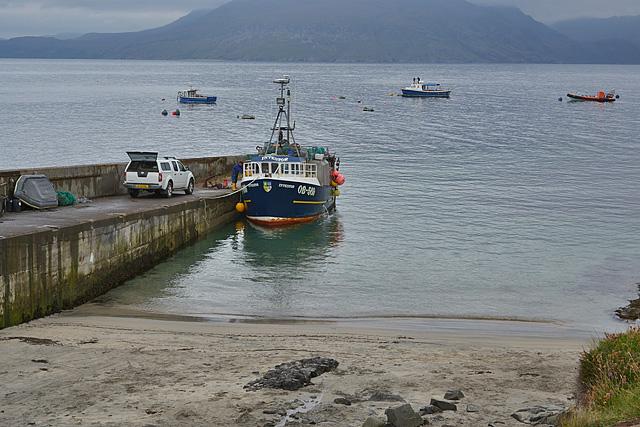 Boats anchored at Elgol