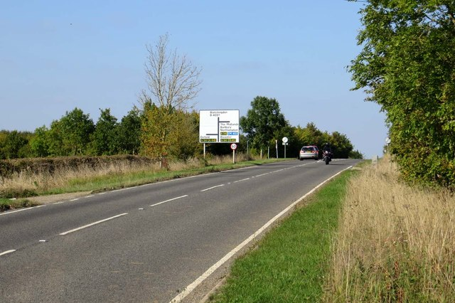 Bletchingdon Road to the A34 and Bletchingdon