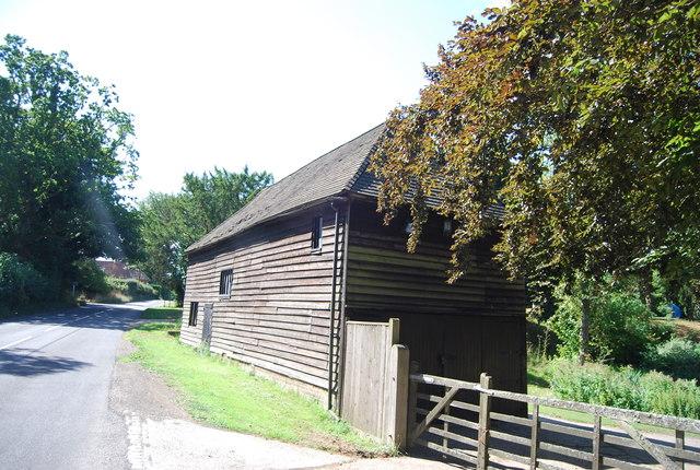 Roadside wooden barn, B2165