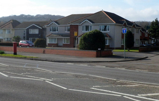 Houses near the corner of Mumbles Road and Ashleigh Road, Swansea
