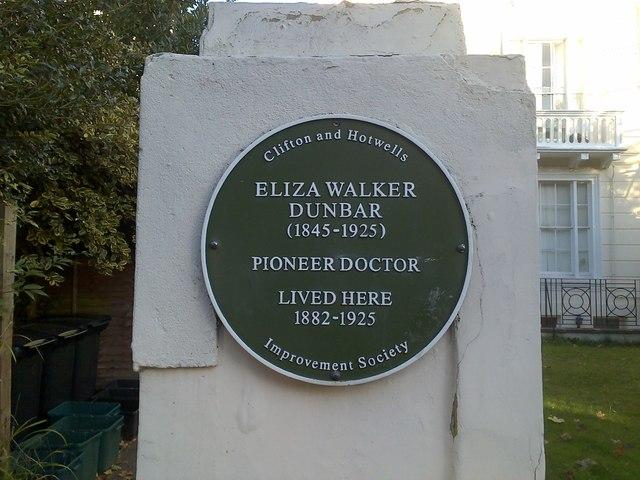 Green Plaque : Eliza Walker Dunbar