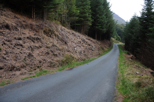 Upland road above Lake Vyrnwy