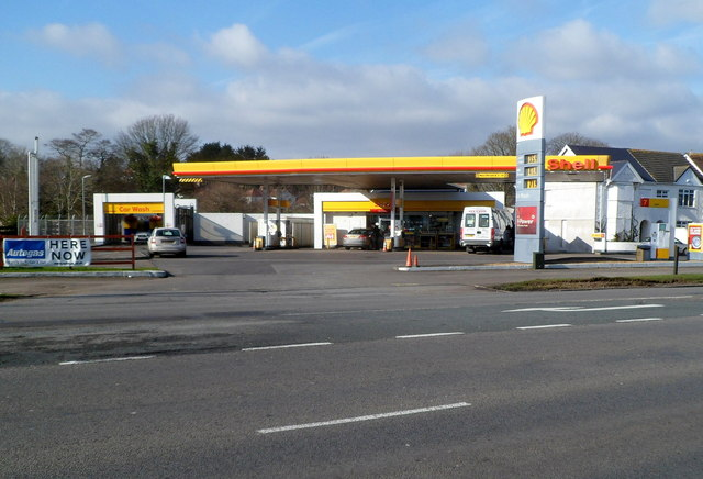 Shell Filling Station, Shop And Car... (C) Jaggery