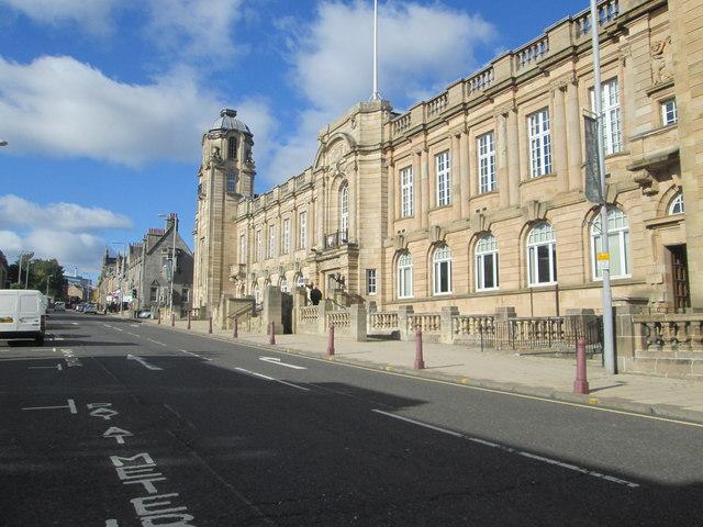 Municipal buildings in Hamilton, Lanarkshire