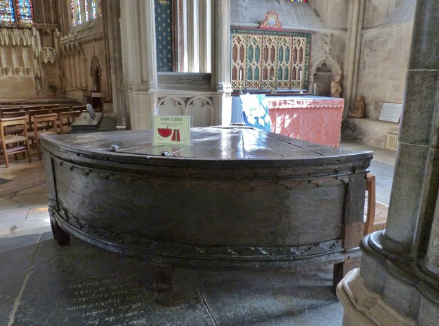 Oak Cope Chest, Wells Cathedral