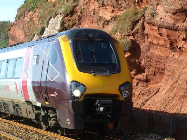 Train near Dawlish