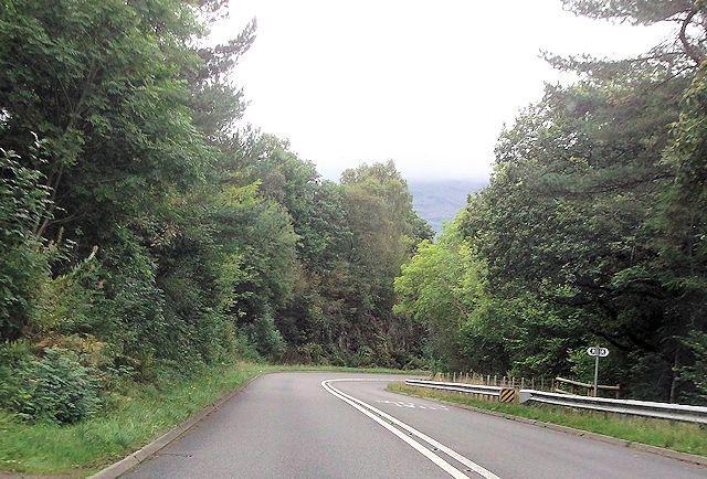 Footpath crossing A487