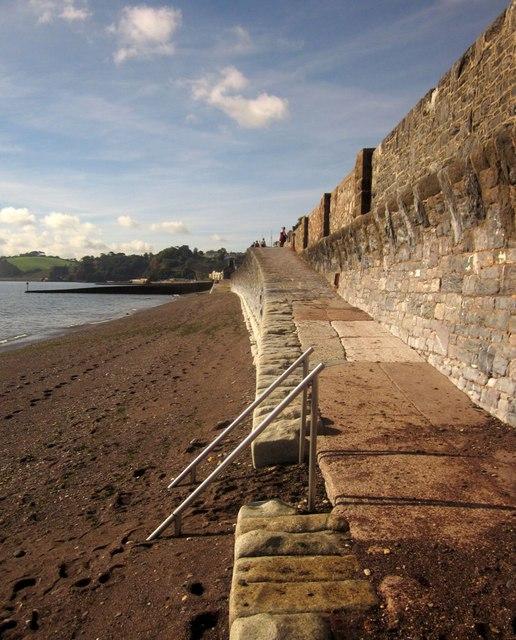 Ramp by the seawall, Dawlish