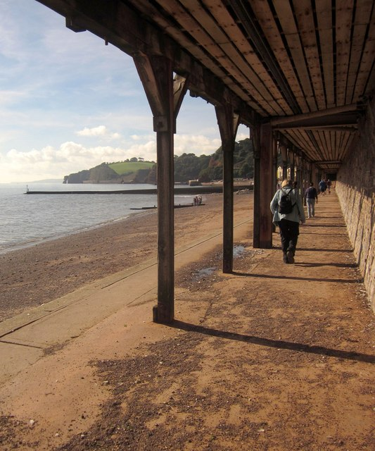 Footpath beneath Dawlish station