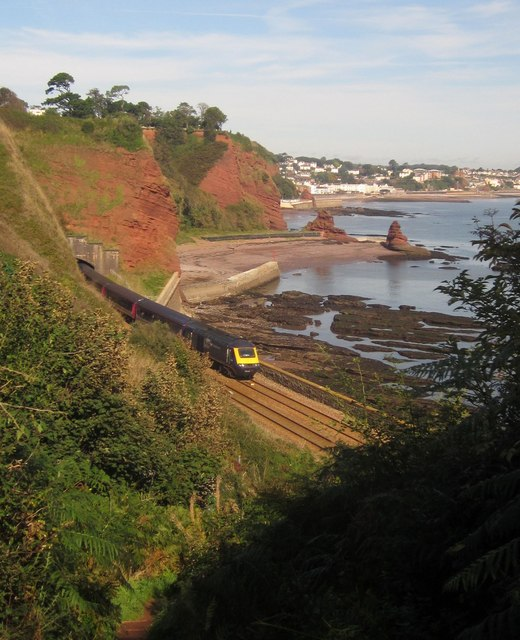 Railway line near Shell Cove, Holcombe