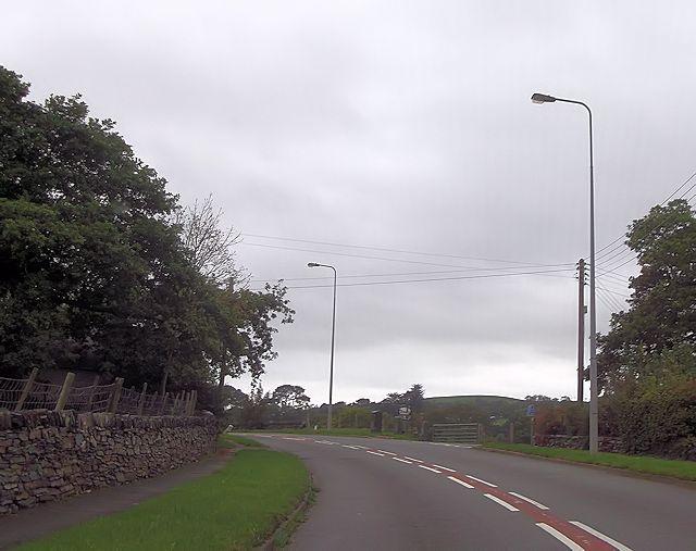 A497 at Tabor Lane Pentrefelin