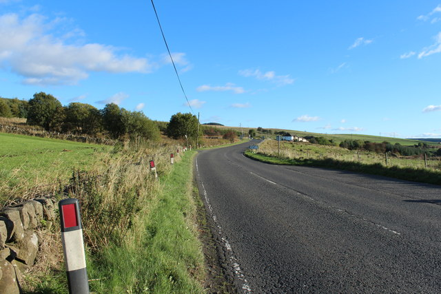 Road to Dalmellington near Polnessan