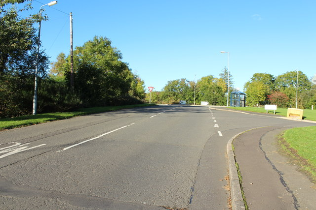 Road to the A713 at Hollybush