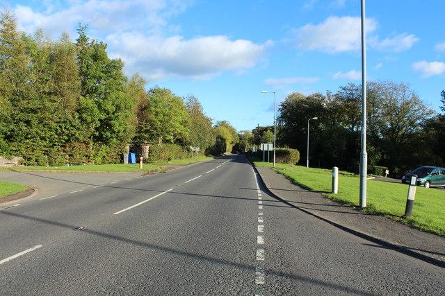 Road to Dalmellington at Hollybush