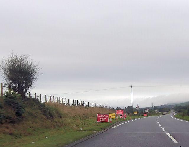 A487 at western Garndolbenmaen junction