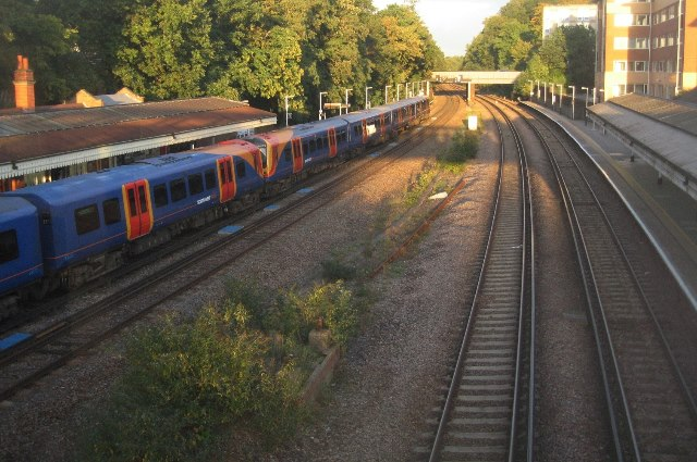 View from the footbridge