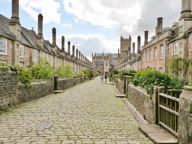Vicars Close, Wells, Somerset,  from its Northern end