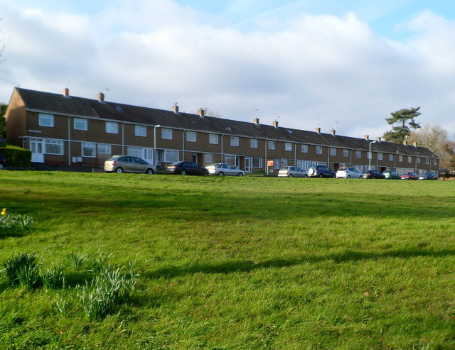 Long row of houses, Heathwood Road, West Cross, Swansea