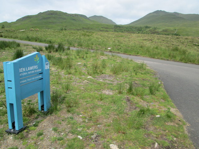 The car park at  the Ben Lawers National Nature Reserve
