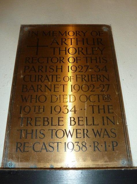 Saint Mary Major, Ilchester: memorial (I)