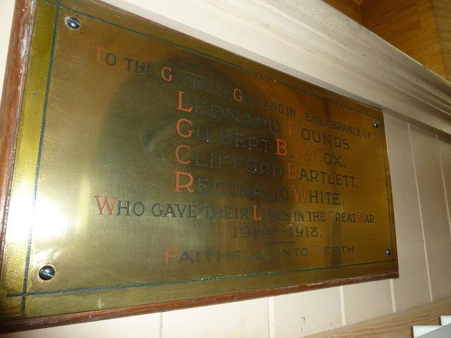 Saint Mary Major, Ilchester: memorial (V)