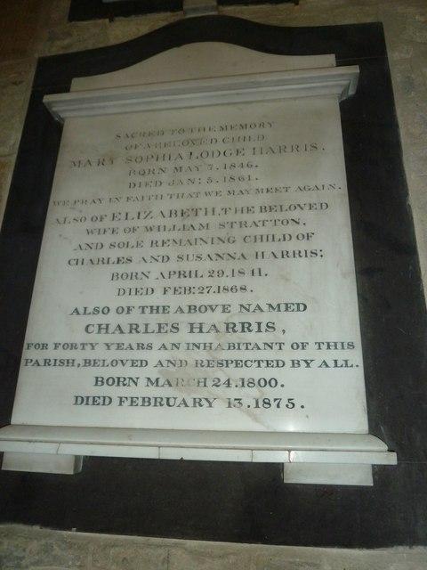 Saint Mary Major, Ilchester: memorial (VII)