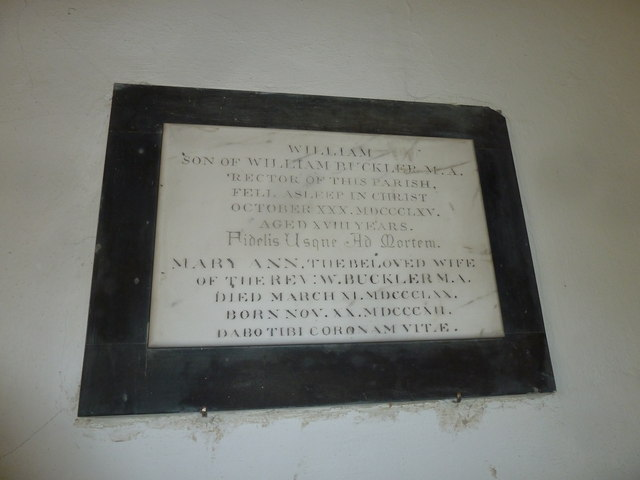 Saint Mary Major, Ilchester: memorial (VIII)