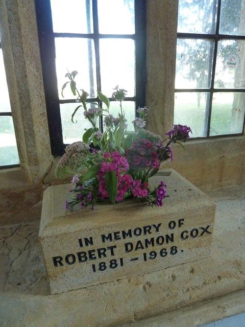 Saint Mary Major, Ilchester: memorial (IX)