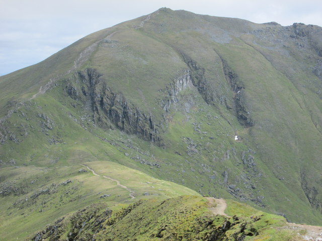 Ben Lawers seen from the ridge leading from Beinn Glas
