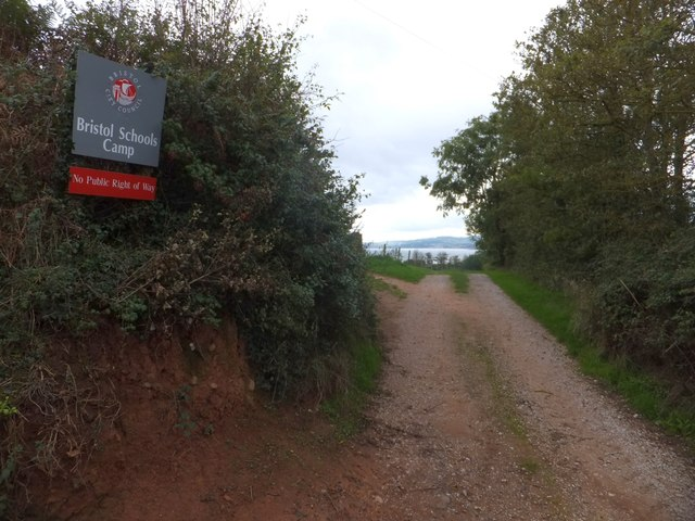 Access track to a camp site, Gore Lane