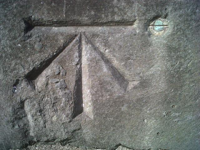 Ordnance Survey Benchmark and Bolt - Carmarthen, St. David's Church